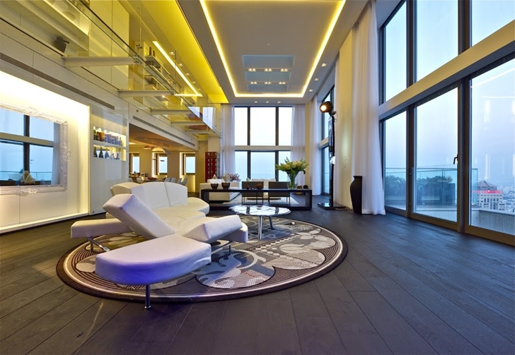 High penthouse ceiling