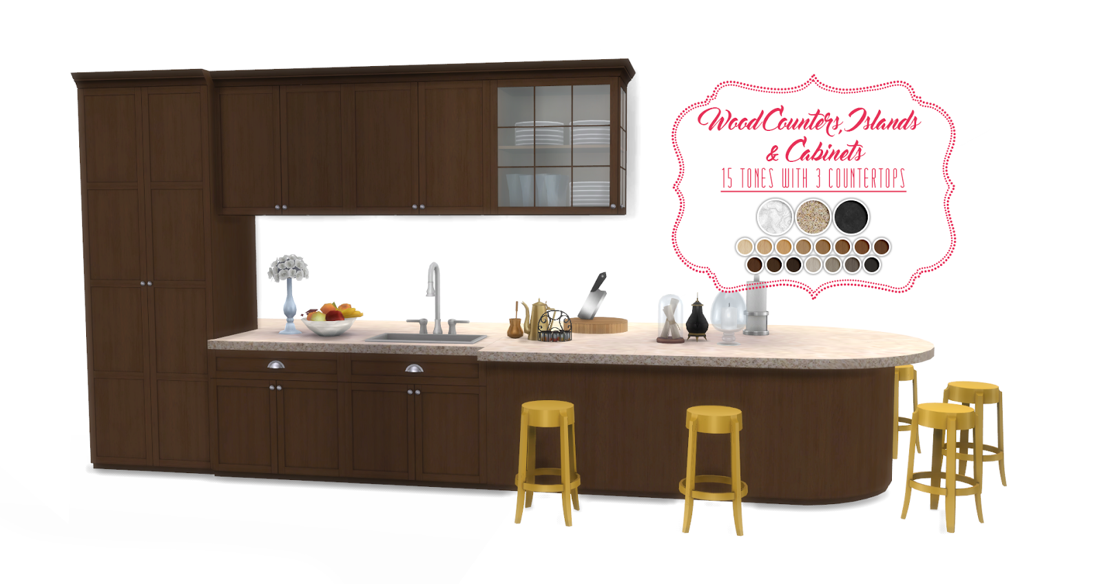 My sims 4 blog updated shaker kitchen by peacemaker ic for Sims 2 kitchen ideas