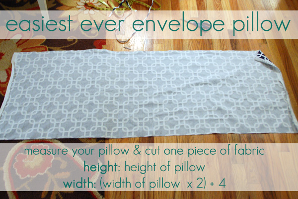 Throw Pillow Cover Instructions : Envelope Pillow Pattern Design Patterns