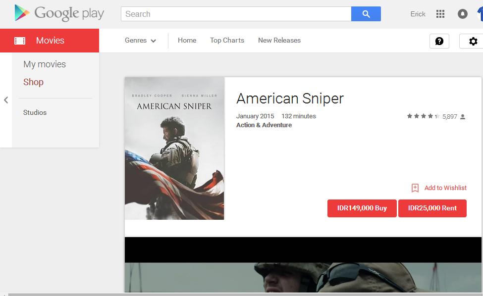 Kini Bisa Beli atau Sewa Film di Google Play