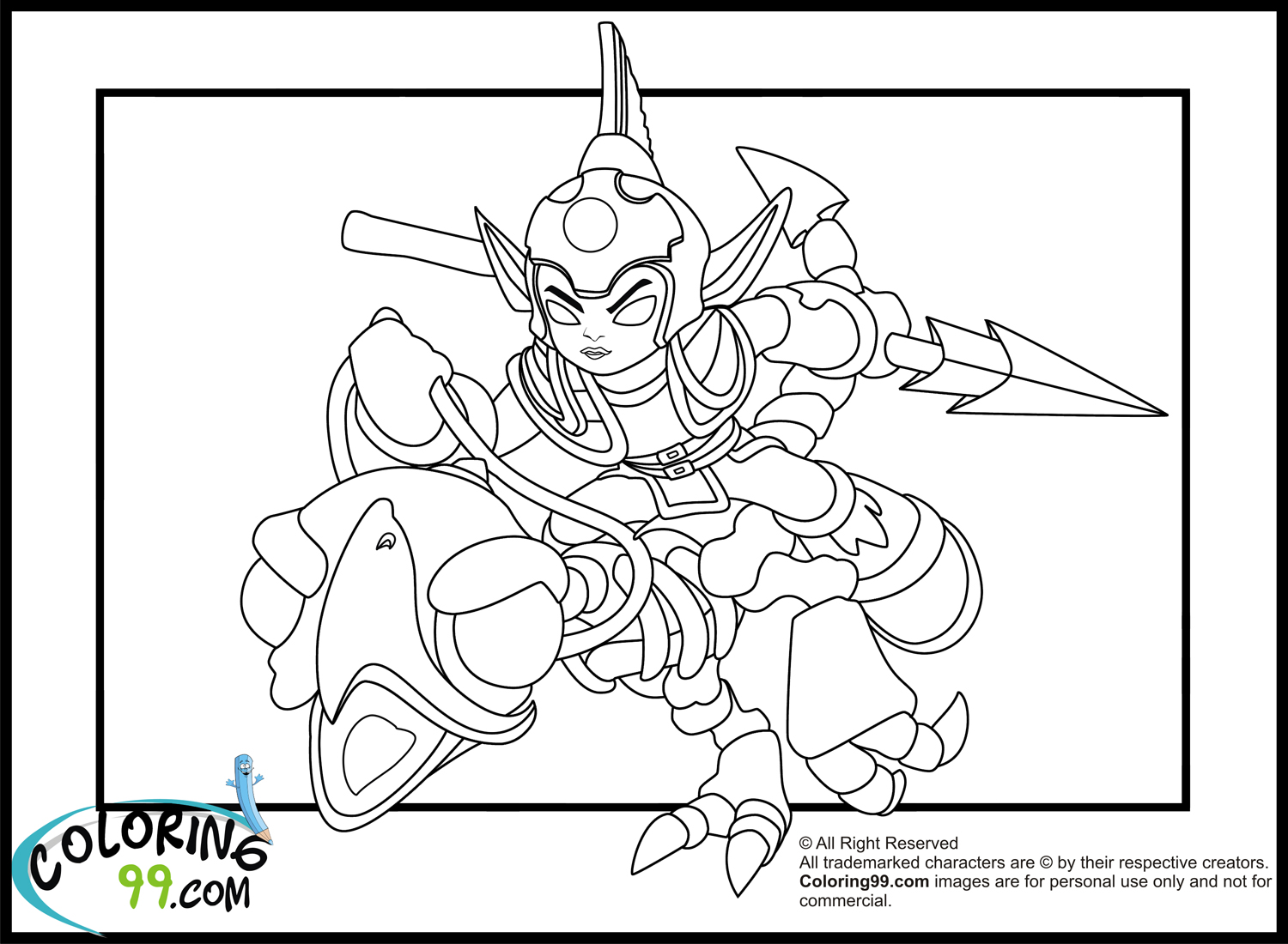 Skylanders Elves Coloring Pages | Team colors
