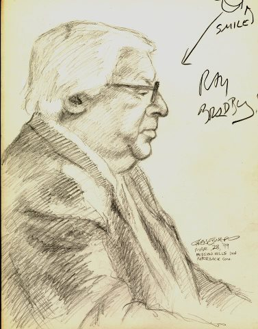 Ray Bradbury (drawn from life)