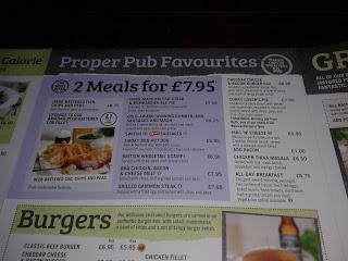 stonegate pub menu