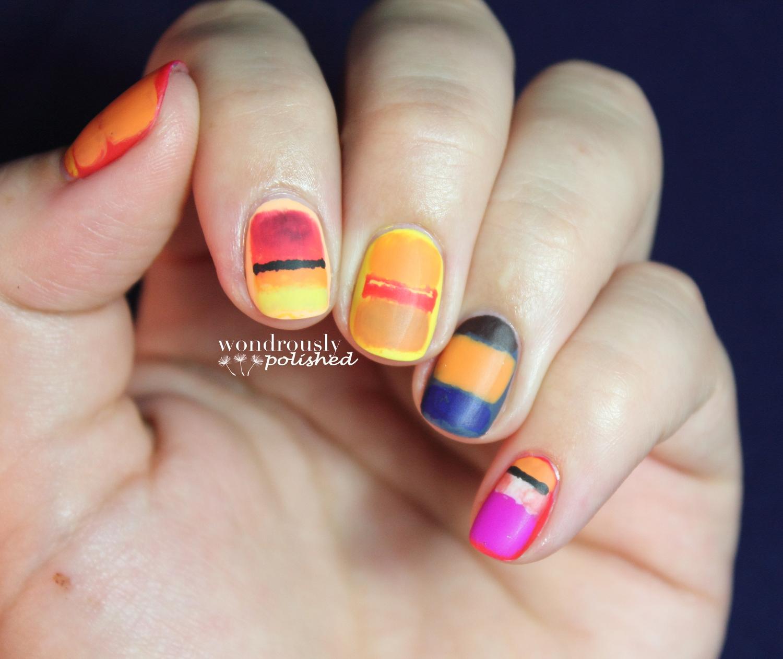 Wondrously Polished: 31 Day Nail Art Challenge - Day 2: Orange Nails