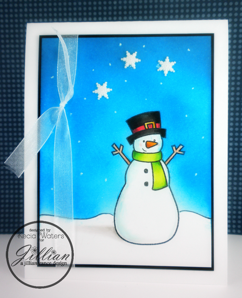 A Jillian Vance Design, Whimsie Doodles, Kecia Waters, Copic markers, snowman