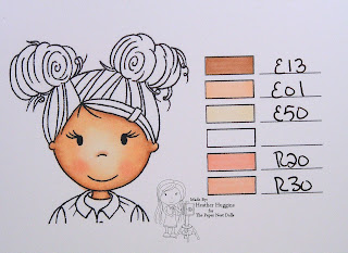 The Paper Nest Dolls - Copic Skin Tone