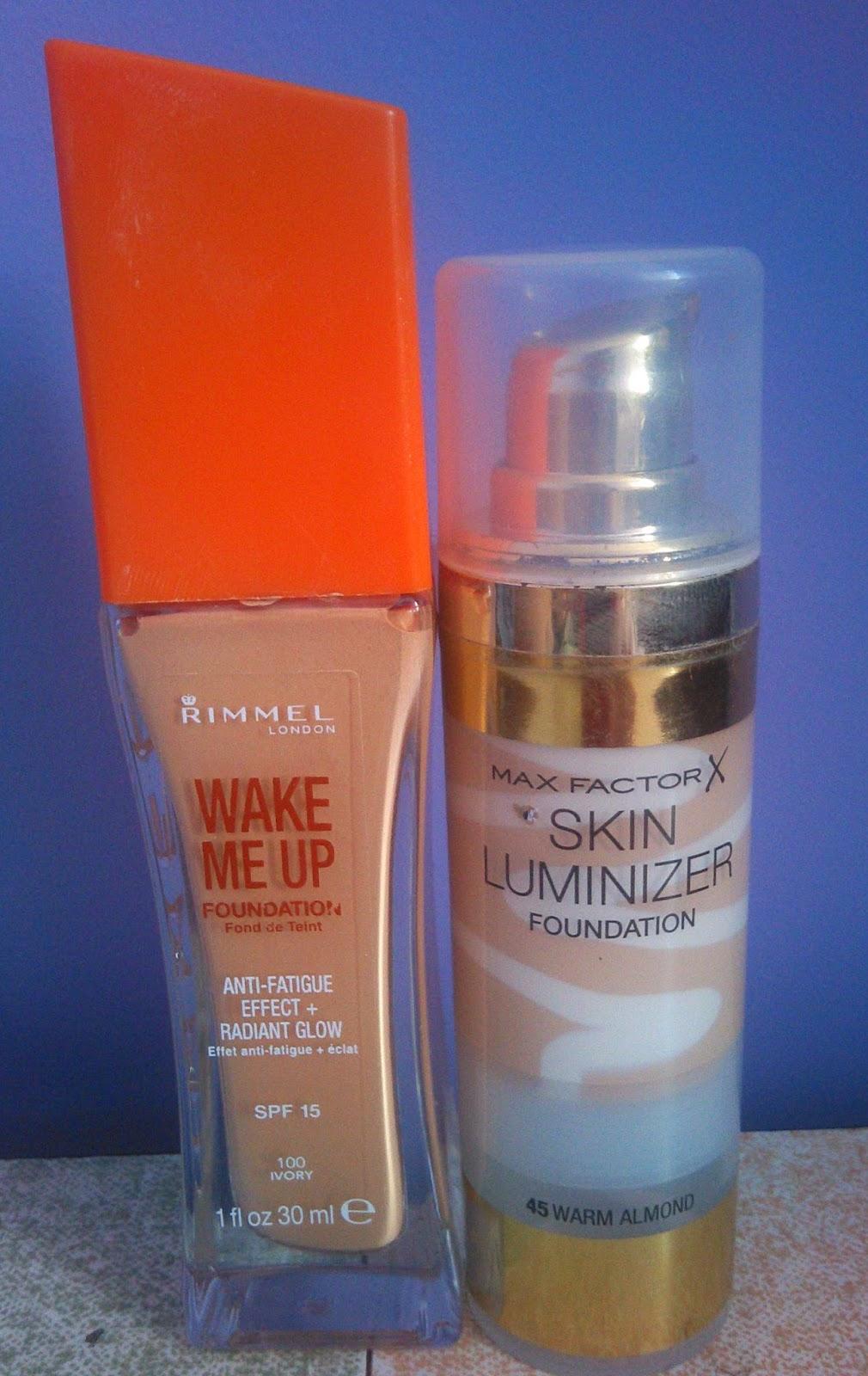 Porównanie Max Factor Skin Luminizer vs Rimmel Wake me up, który lepszy i dla kogo ?