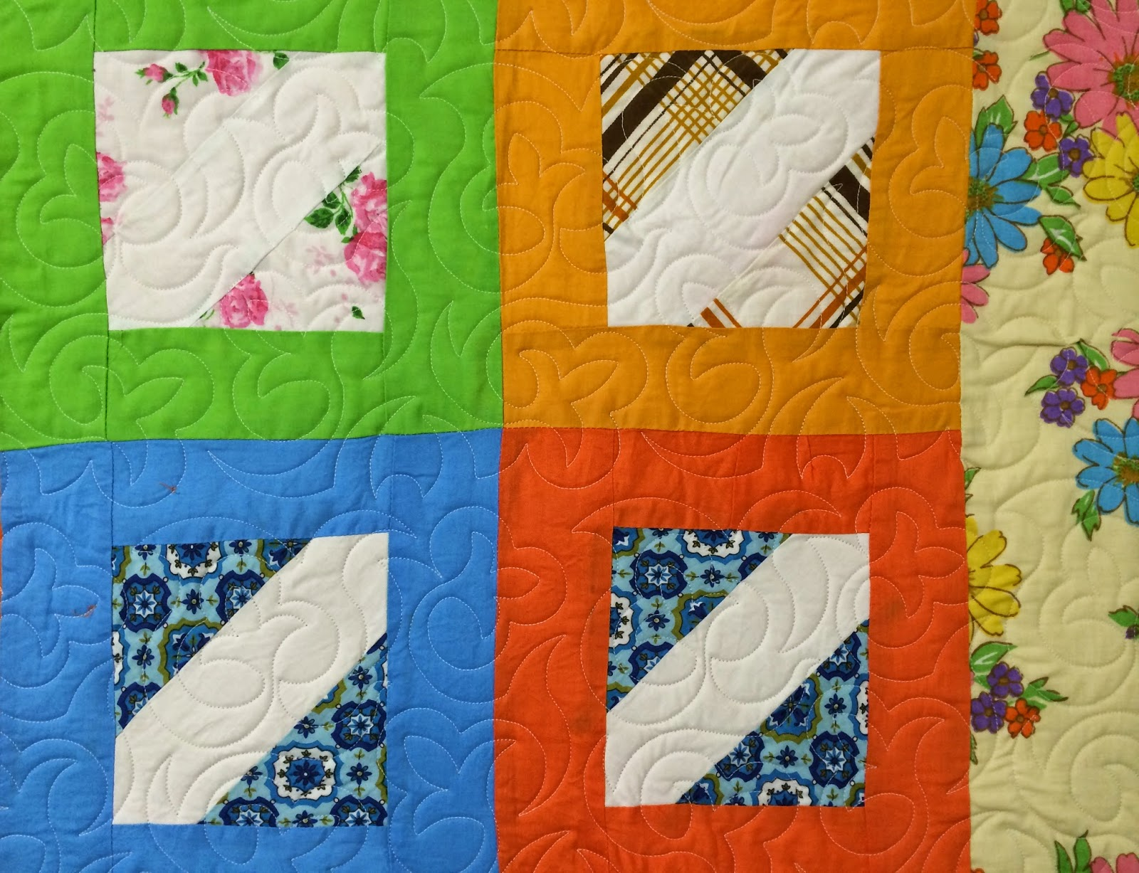 Sharon Lowther's 2 Inch Blocks in Red Quilt