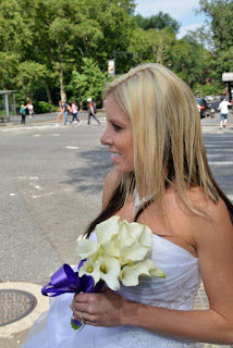 Bride arrives at Central Park West for her Wedding