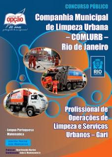 Apostila COMLURB Concurso Público Gari Rio de Janeiro/RJ 2015