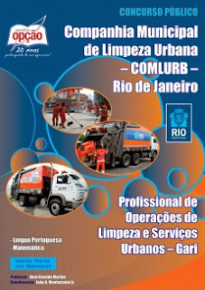 Apostila COMLURB Rio 2015 - Concurso GARI - Rio de Janeiro - Companhia Municipal de Limpeza Urbana.