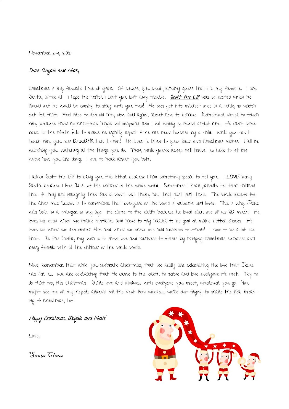Elf On A Shelf Goodbye Letter Template | Search Results | Calendar ...