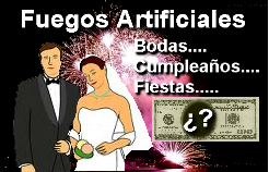 Fuegos artificiales, Bodas, cumpleaños, inauguraciones...