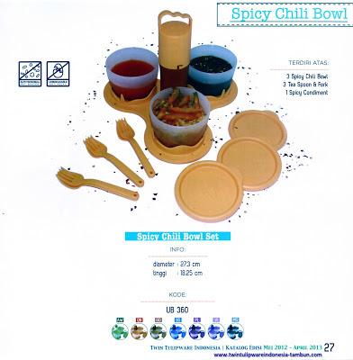 daftar harga tulipware spicy chili bowl set