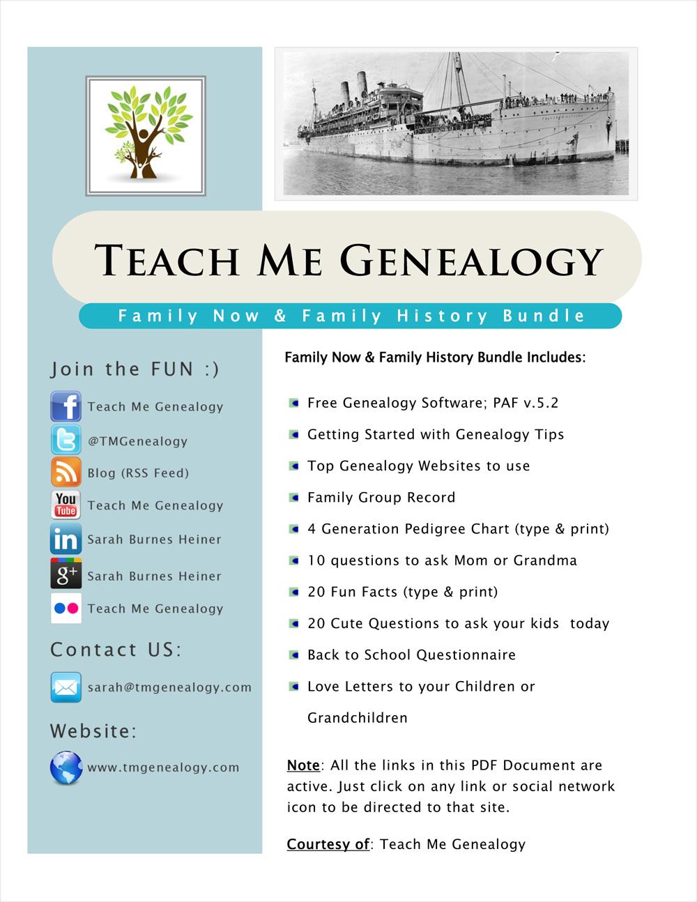 free family history charts