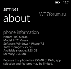 Windows Phone Tango to have restrictions on 256MB RAM phones