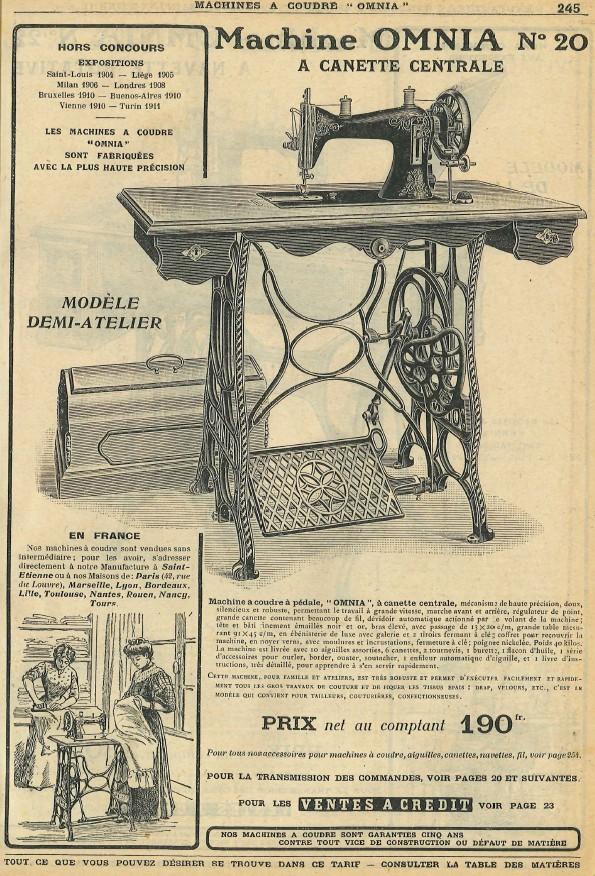 Le blog de callisto catalogue des machines coudre for Machine a coudre omnia