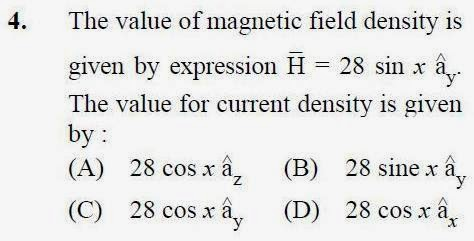 2013 December UGC NET in Electronic Science, Paper III, Question 4
