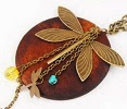 Image: BlueTop(TM) Fashion Lady Charming Wood Dragonfly Pendant Necklace Lovely Style