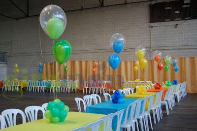 Mesas con globos