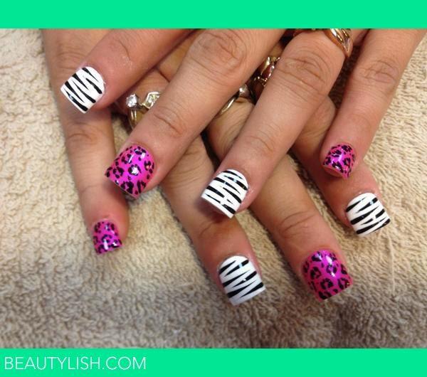 Cheetah Print Acrylic Nail Tips