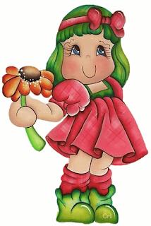 dulce muñeca con flor