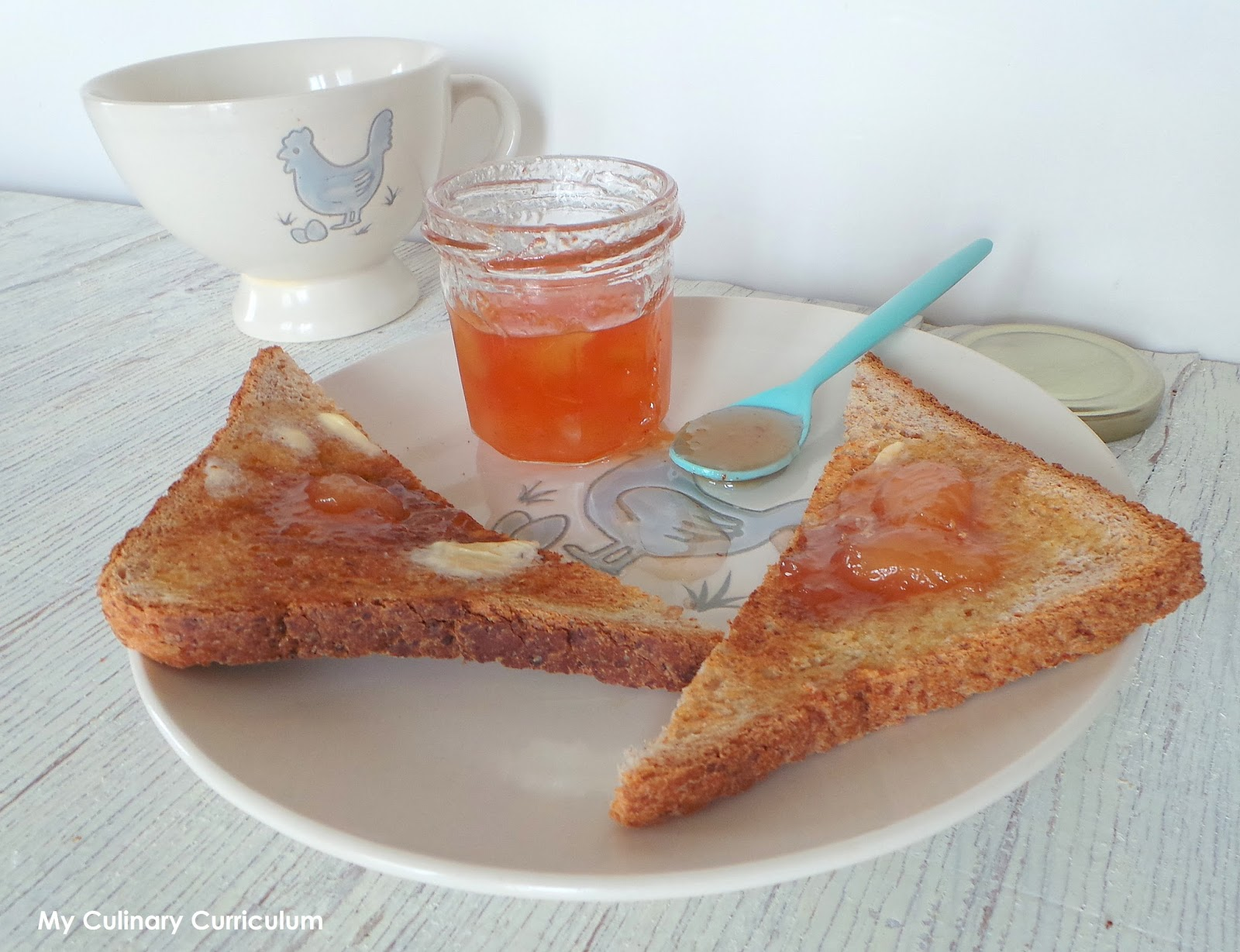 my culinary curriculum confiture de p ches blanches maison homemade peaches jam. Black Bedroom Furniture Sets. Home Design Ideas