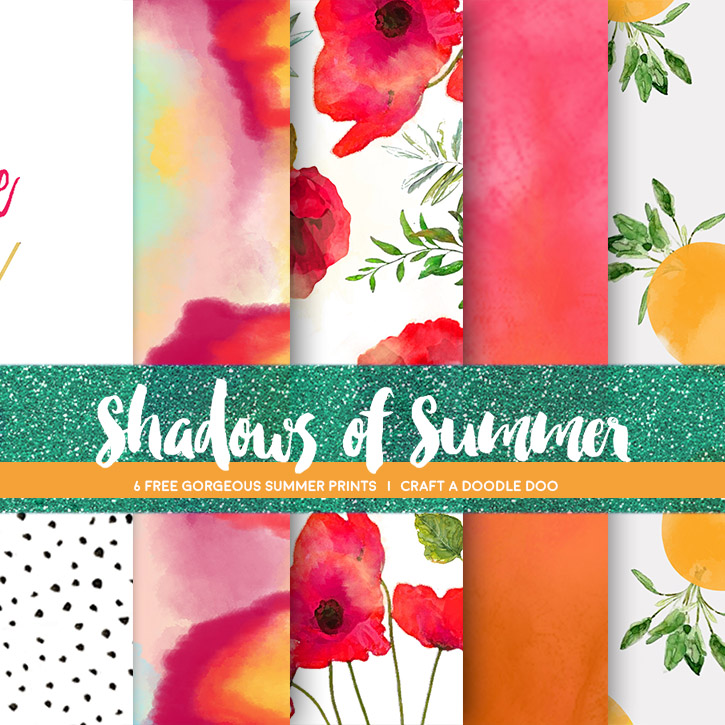6 Pretty New summer themed free prints by Craft A Doodle Doo! #free #printables #summer #design