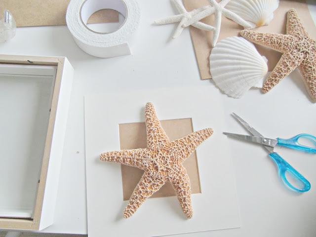 Vicky 39 s home diy cuadros de conchas y estrellas de mar for Decoracion marinera ikea