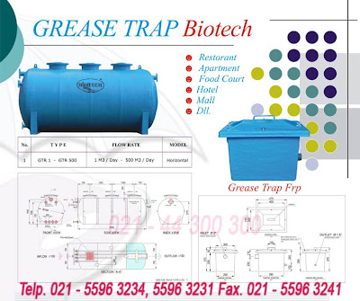 oil trap, grease trap, septic tank biotech baik modern, toilet portabel fiberglass, flexible toilet fibreglass, ipal biotech, stp