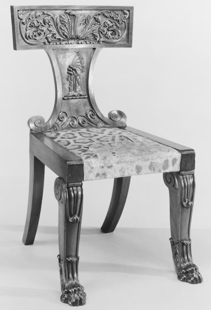 Side chair (part of a set) Attributed to Thomas Hope, ca 1820, Mahogany, The Metropolitan Museum of Art, New York