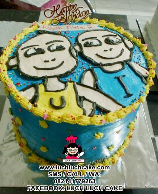 Kue Tart Upin dan Ipin Daerah Surabaya - Sidoarjo