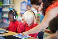 Teacher with Technology