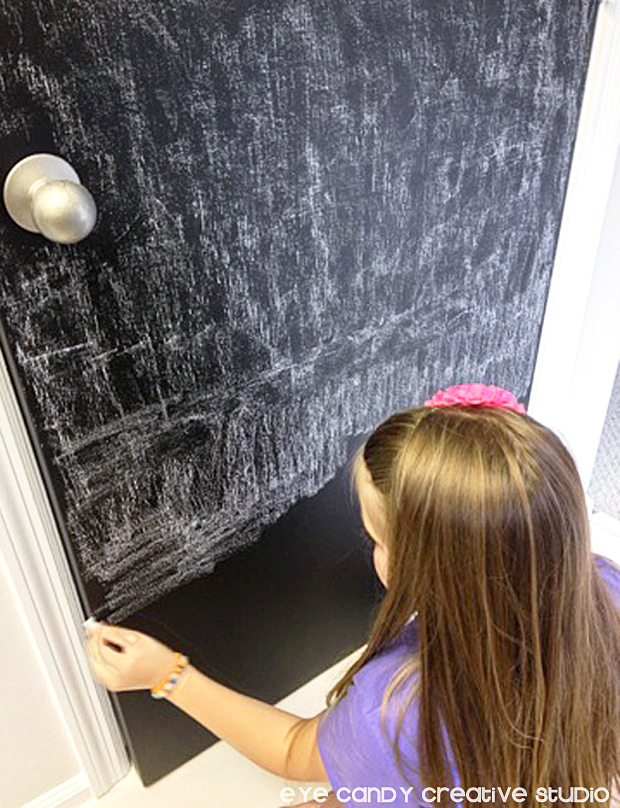 seasoning chalkboard paint, chalk, pantry door makeover, valspar paint