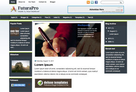 FuturaPro Blogger Template