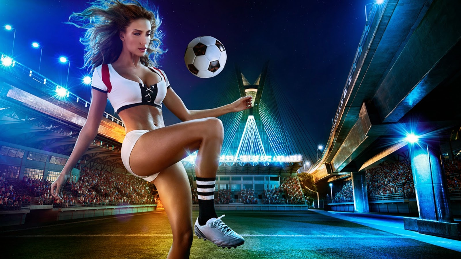 Brazil World Cup 2014 Football Baby Sexy Wallpaper