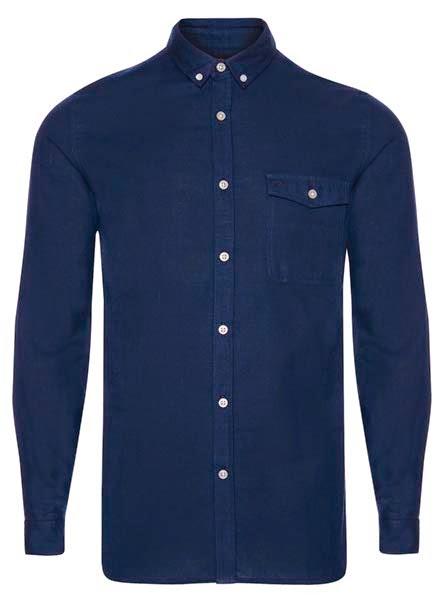 Primark online: camisa de manga larga en azul marino
