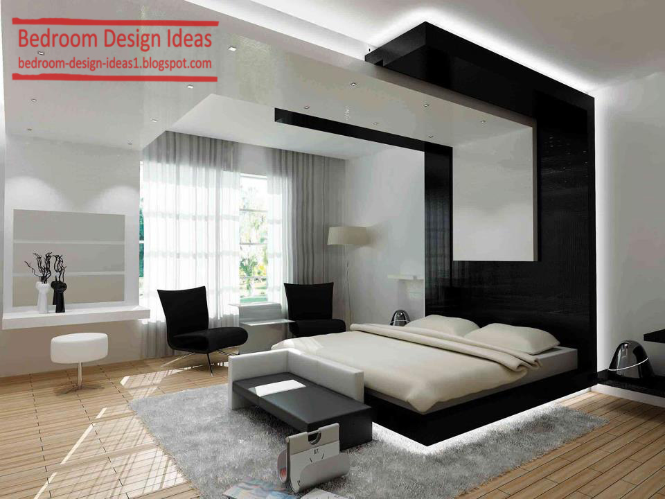 black and white bedroom design ideas gypsum ceiling design wooden