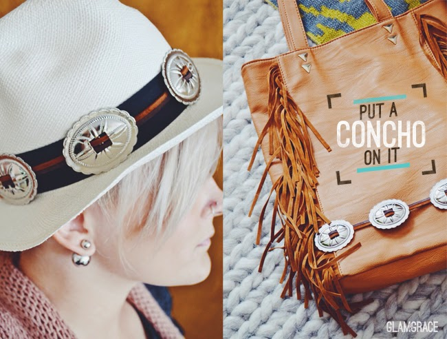 Diy concho accessories - put a concho on it