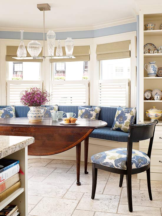 2014 kitchen window treatments ideas decorating idea - Kitchen bay window treatments ...
