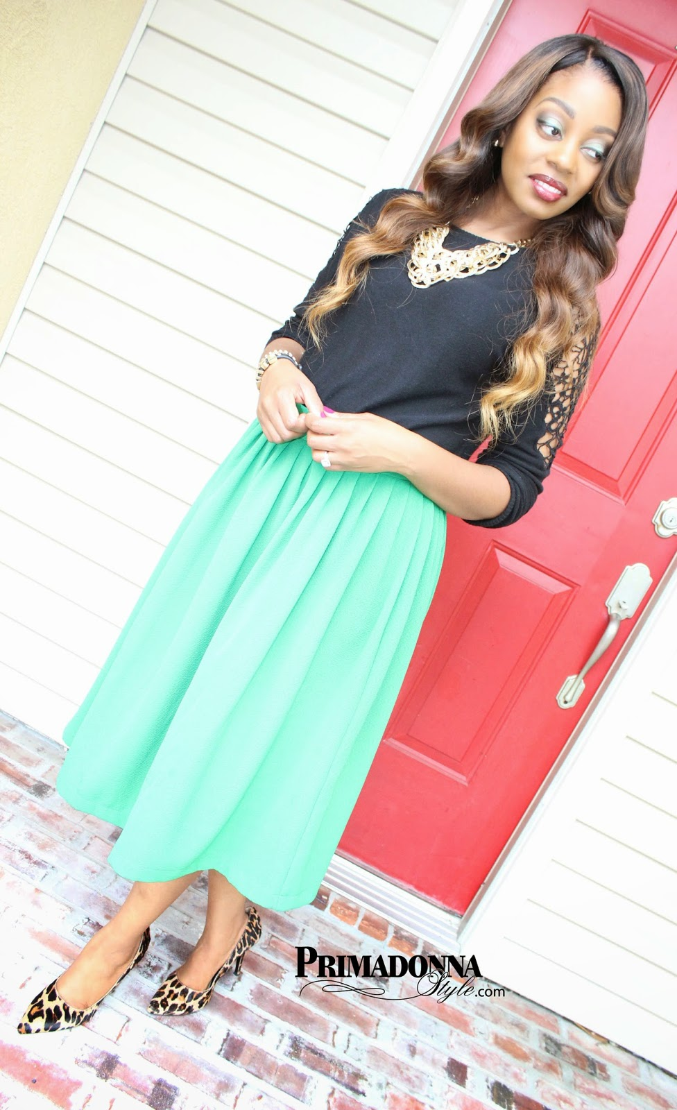 asos woven midi vintage skirt forever 21 crochet sweater nine west flax leopard pony hair heels pumps bcbgeneration fierce affirmation capsule by cara bracelet textured gold necklace charming charlie