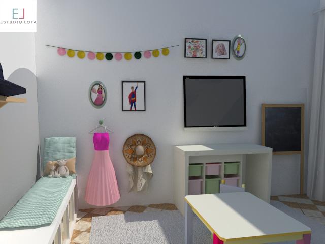 Cuarto de juegos infantil playroom estudio lota for Disenar habitacion online