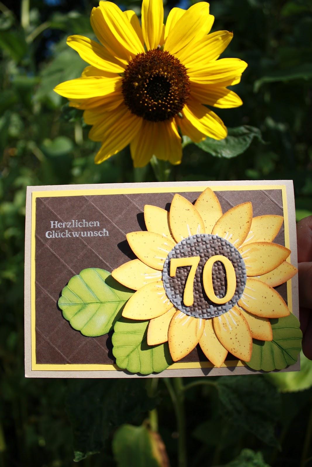Der kleine Stempelgarten: August 42 - Einladungskarte Sonnenblume