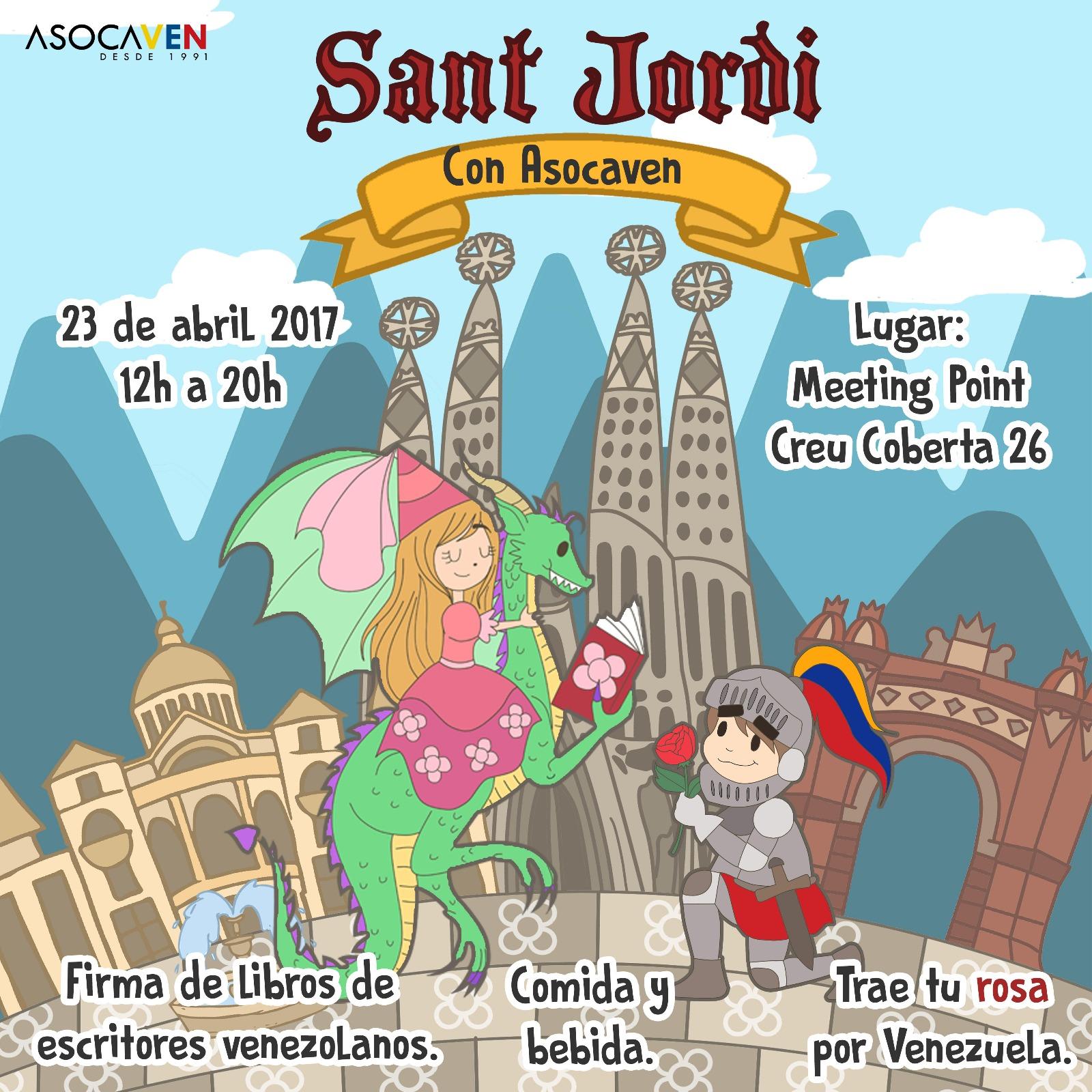 Sant Jordi con ASOCAVEN