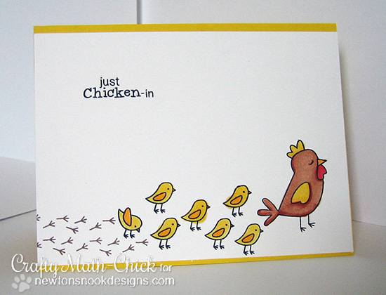 Chicken card by Crafty Math Chick for Newton's Nook Designs | Chicken Scratches Stamp