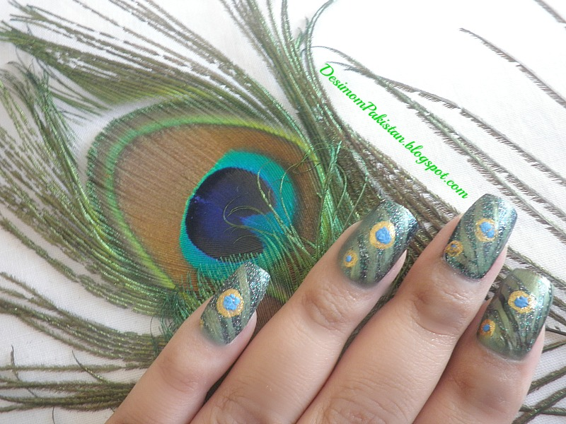 PICTURE POLISH...DO YOU WANNA SEE MY PEACOCK peacock mani