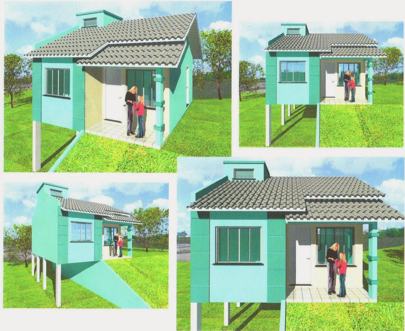 plantas de casas com dois quartos e garagem Soprojetos 2 Quartos  #8AAD1E 1600 1309