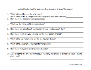 Worksheets Medication Management Worksheets major speech pathology fun with a side of gluten free medication management worksheet freebie
