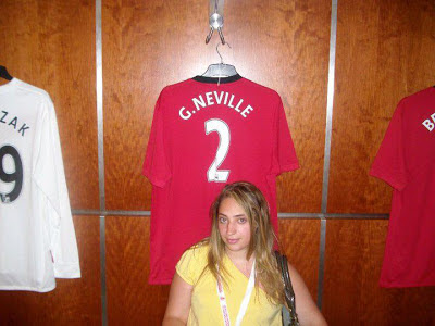 Amanda with Gary Neville shirt