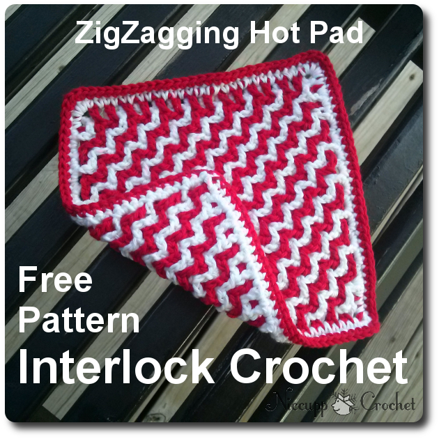 Niccupp Crochet Zigzagging Hot Pad Free Crochet Pattern